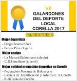 Vota por tus candidaturas preferidas a los VII Galardones Deporte Local Corella 2017