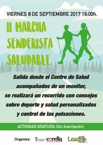 El viernes 8 de septiembre, la II Marcha Senderista Saludable