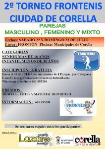 Hasta el 20 de julio inscripciones para el II Torneo de Frontenis