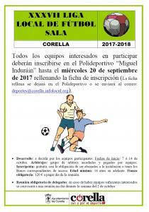 Hasta el 20 de septiembre, inscripciones para la Liga Local de Fútbol Sala
