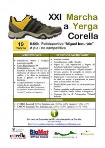 Inscripciones anticipadas en la XXI Marcha a Yerga hasta el jueves 16 de febrero