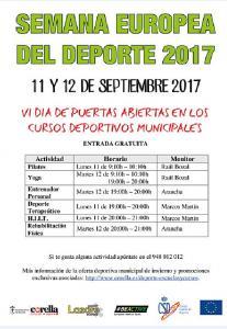 VI Día de Puertas Abiertas en los Cursos Deportivos Municipales