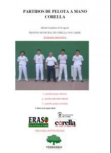 El 29 de agosto partidos de exhibición escolar de pelota a mano